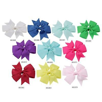5pcs Lots Baby Hair Bows For Girls Kids Hair Bands Alligator Hair Clips Q