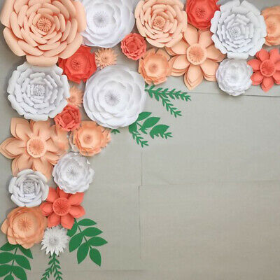 2Pcs 20cm Giant Rose Paper Flower Wedding Party Backdrop Wall Decor DIY Material