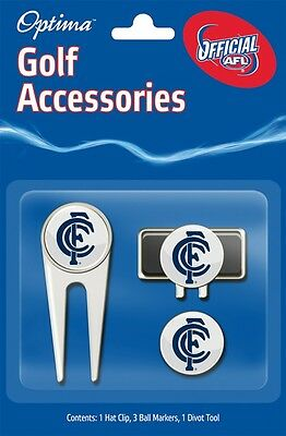 Afl Golf Accessory Pack - Carlton - Official Afl Product - Gift Idea!