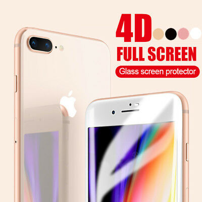 4D Full Coverage Tempered Glass Screen Protector for Apple iPhone 7 7+ 6S 6 Plus
