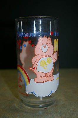 Vintage Original 1984 'care Bears' America Greetings Glass