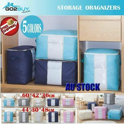 Clothes Quilt Blanket Storage Bag Oxford Wshable Organizer Foldable Zipper Box