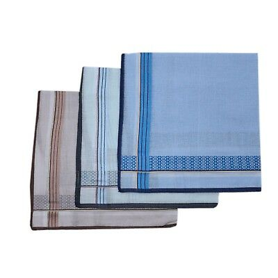 Men's 100% Pure Cotton Handkerchiefs 38CM X 38CM Birthday Gift Bulk Pattern  4