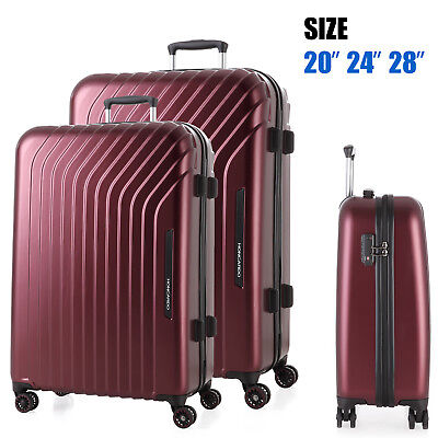 3pc Luggage Set Travel Bag Trolley Suitcase TSA Lock Carry On Lightweight
