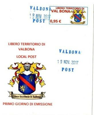 Micronation Valbona stamp Cinderella Vineyards Wine coat arms first day issue