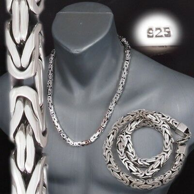 Huge Heavy Bali Byzantine 925 Sterling Silver Mens Necklace King Chain 22 - 30""