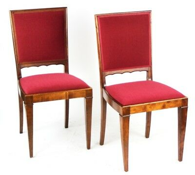 A pair of Vintage  Walnut Dining Chairs - FREE Shipping [PL4272A]