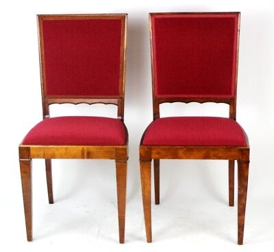 A pair of Vintage  Walnut Dining Chairs - FREE Shipping [PL4272B]