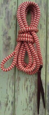 8ft Lead Rope (2.4m) with Loop - Red/Beige Zig Zag by Natural Equipment