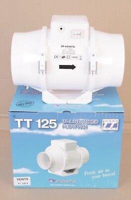 VENTS   TT 125 V  in-line  Fan  / extracteur /   estrattore  2 SPEED    new