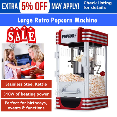 Electric Popcorn Machine Home Theatre Popcorn Popper Cooker Party Machine Retro