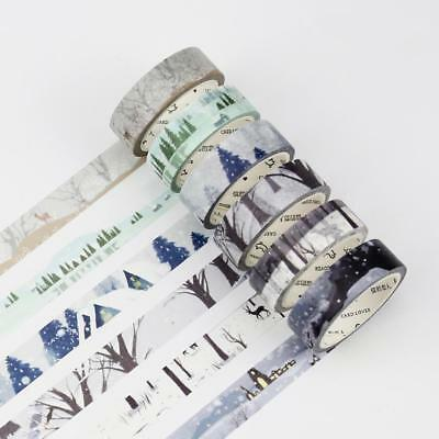 Chinese Solar terms Four Season Scenery Washi Masking Tapes Home Decor DIY Craft