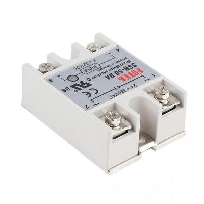 Mm New 23 Relay Pro Solid 50a/250v Input Cover State Output Ssr-50da 24-380vac