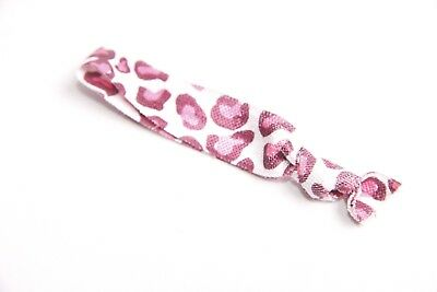 Gorgeous Ladies/Girls Elastic Small Leopard Pattern Pink Hair Band/Tie(S313)