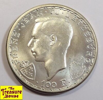 1946 Luxembourg 600th Anniversary John the Blind Restrike Silver Coin NR