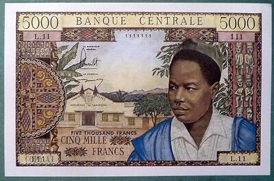 Cameroun Cameroon Copy Of 5000 Francs From 1961 , Reproduction , Not A Real Note