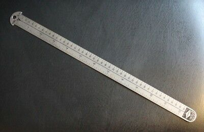 Vintage Used Gaebel Flexible Stainless Steel Commercial Printer Ruler 612-A