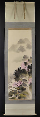 JAPANESE HANGING SCROLL ART Painting Scenery Asian antique  #E1242