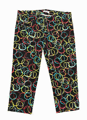 MOSCHINO VINTAGE '80 Pantaloni Donna Pinocchietto Optical Woman Pant Sz.L - 46