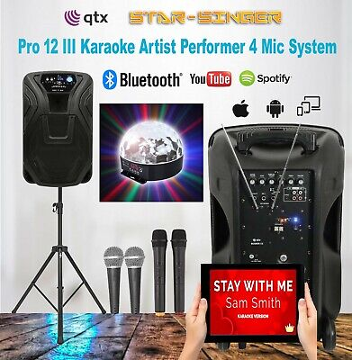 Karaoke Machine - Bluetooth Party Starter System For Home Or Club