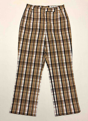 BETTY BARCLAY VINTAGE '80 Pantaloni Donna Scotland Golf Woman Pant Sz.S - 42