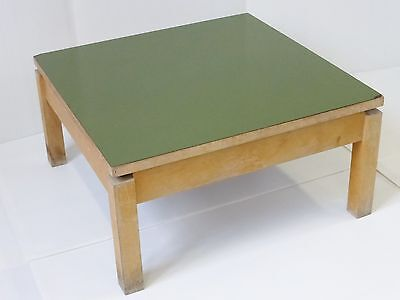 COFFEE TABLE SQUARE FORMICA KHAKI 1950 VINTAGE ROCKABILLY 50's #1