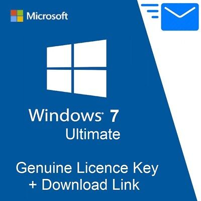 Microsoft Windows 7 ULTIMATE KEY Vollversion 32/64 Bit OEM Product MS Win 7 Code