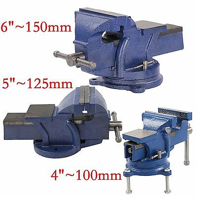 """4""""/5""""/6"""" Heavy Duty Work Bench Vice Engineer Jaw Swivel Base Workshop Vise Clamp"""