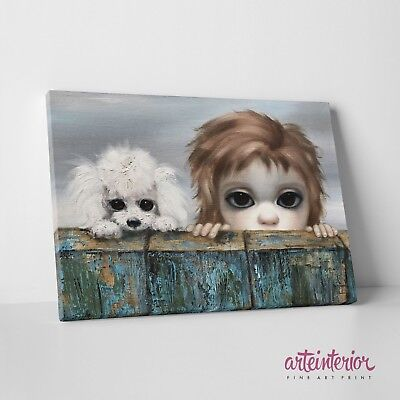 Margaret Keane - Beachhead - Stampa Fine Art HR su tela Canvas Big Eyes