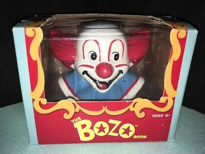 "Bozo The Clown Collectible Bank New In Box 2011 ""reproduction"" New Bozo Bank"