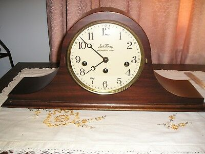 Vintage Seth Thomas Mantle Clock Westminster Chiming Germany Movement 2 Jewels