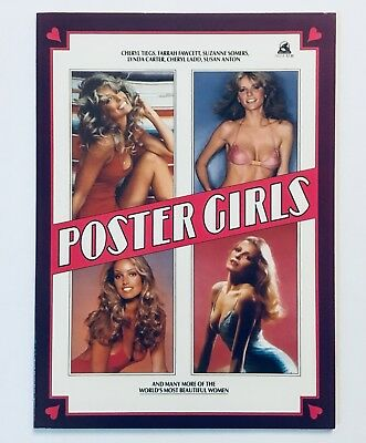 POSTER GIRLS, Rare, 1980, Collection of 20 Beautiful 70's Celebrity Posters, NM