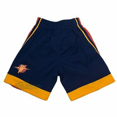 Golden State Warriors 2009-10 Hardwood Classics Blue / Yellow Shorts by Mitch...