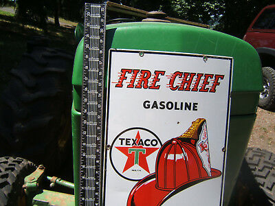 vintage sign fire chief texaco 1957
