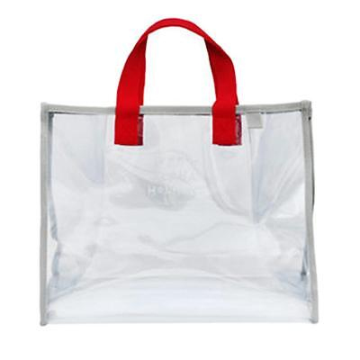 Clear Tote Bag Transparent Purse Beach Storage Bag Totes Durable PVC Red
