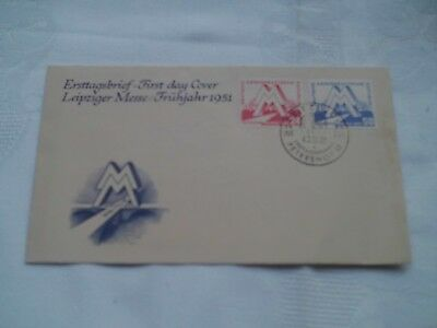 Erstagsbrief First Day Cover Leipziger Messe 1951,Postkarte Leipziger Messe 1954