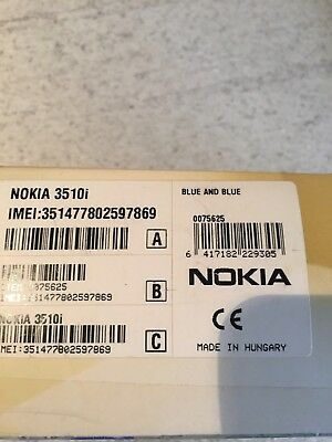 Nokia 3510i Mobile Phone In Original Box With Charger And Booklet