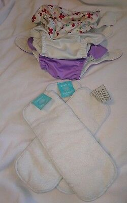 Lot of 3 Charlie Banana cloth diapers with inserts
