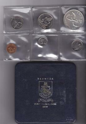1970 Silver Bermuda 6 Coin Proof Boxed Wildlife Set First Decimal Coins