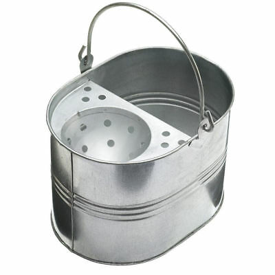 High Quality - 14L Heavy Duty Metal Bucket & Mop Galvanised Strong for Cleaning