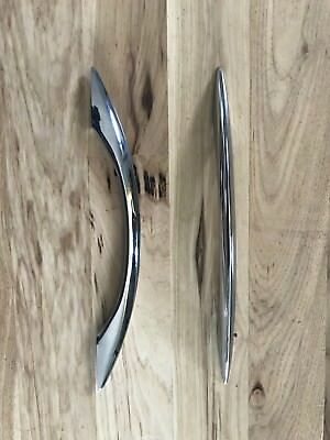 Vintage 50s CHROME - Cabinet Door Handles. 13 inches long. Set of 19