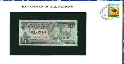 Banknotes of All Nations Ethiopia 1976 1 Birr P30b UNC Birthday note 1961