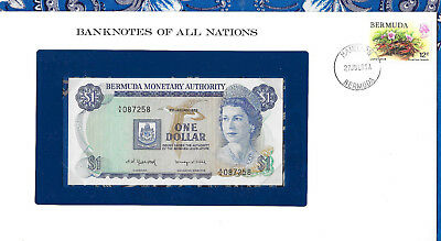 Banknotes of All Nations Bermuda 1 Dollar 1982 UNC P28b.3 prefix A/6