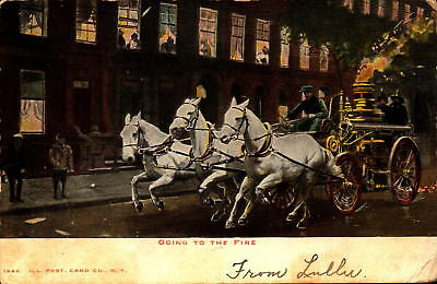 Postcard Going to the Fire Ill. Post Card Co. 1906 Postmark New York