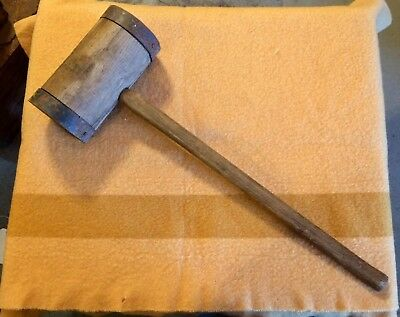"""36"""" Carnival Circus Strong Man Hammer Mallet Midway Games Primitive Maul"""