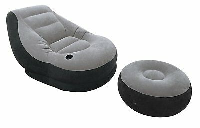 Blow Up Chair Footrest Inflatable Ottoman Recliner Couch Bed Sofa Mattress  Small