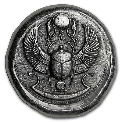 1 oz Hand-Poured Silver Round - Scarab Beetle - SKU#166400