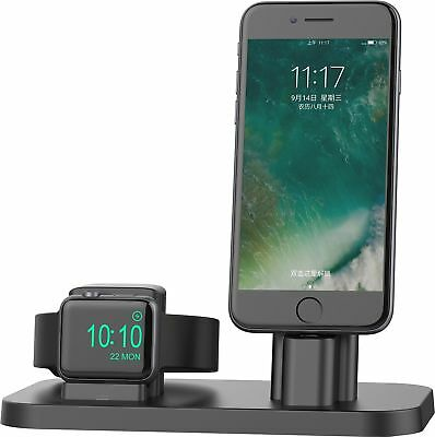 Apple Watch Series 3/2/1 Charging Stand Dock Station iPhone 7/8 Plus Nightstand