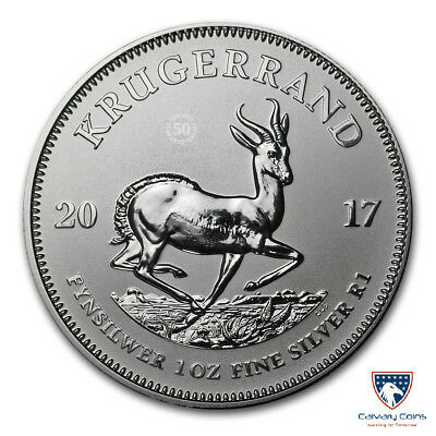 2017 South Africa 1 oz Silver Krugerrand Premium BU (In Capsule)