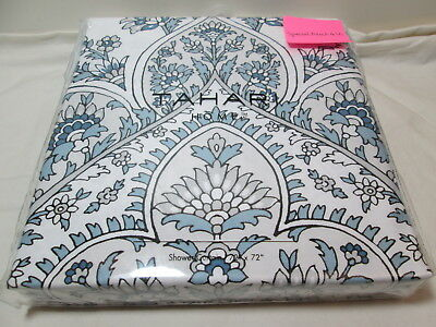 NEW TAHARI FLORAL Paisley Shower Curtain 72x72\